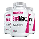 Bustmaxx - All Natural Breast Enhancement and Enlargement Pills (3 Bottles)   Breast Augmentation Supplement for Larger, Fuller Breasts   with Saw Palmetto, Fenugreek and Dong Quai, 180 Count ...
