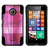 Nokia Lumia 635 Case, Nokia Lumia 630 Case, Durable Hybrid STRIKE Impact Kickstand Case with Art Pattern Designs for Nokia Lumia 635, 630 (AT&T, Sprint, T Mobile, Cricket, Virgin Mobile, Boost Mobile, MetroPCS) from MINITURTLE | Includes Clear Screen Protector and Stylus Pen - Plaid Pink