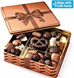 Bonnie & Pop's Holiday Chocolate Gift Box Prime, Gourmet Gift Basket Prime, Assortment Tray, Thanksgiving Christmas Corporate Food Gifts in Elegant Keepsake, Sympathy Birthday or Get Well Basket Ideas