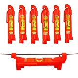 6x Hanging Bubble Line Level for Building Trades, Engineering, Surveying, Metalworking and other Equipment Measure