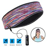 Sports Headband Headphones, Headsets for Sleeping Washable Bluetooth Headband Perfect for Riding, Running,Air Travelling (Camouflage Pink)