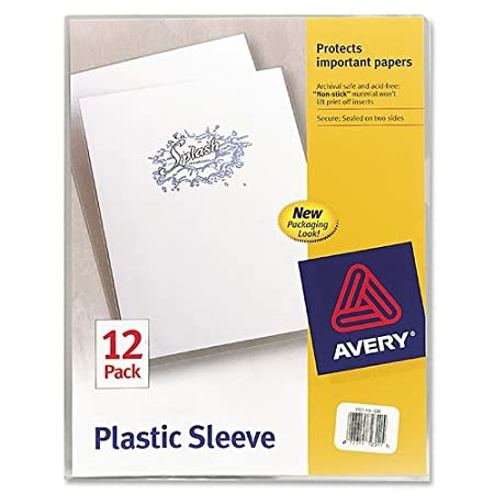Plastic Sleeves, Clear, Pack of 12
