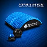 Soft Touch Back Stretcher - Back Pain Relief - Sciatica Pain Relief - Spinal Stenosis Pain Relief - Neck Pain Relief. Included!! Two Massage Balls for Back Pain!