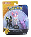 Pokémon Action Pose 3 Figure Pack: Espeon, Umbreon, Sylveon