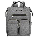 Laptop Backpack for Women, Lightweight Womens Travel Backpack Wide Open Backpack Large Capacity for Girls Boys Travel School Multipurpose Use Daily Carry Backpack (Grey)