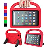 MENZO Kids Case for All-New Fire 7 2019, Light Weight Shockproof Portable Handle Stand Kids-friendly Case for All-New Fire 7 Inch Tablet (Compatible with 9th Generation, 2019 Release), Red