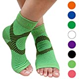 BLITZU Plantar Fasciitis Socks with Arch Support, Foot Care Compression Sleeve, Eases Swelling & Heel Spurs, Ankle Brace Support, Relieve Pain Fast Green L-XL