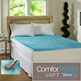 Beautyrest 3 Inch Sculpted Gel Memory Foam King Mattress Topper Supportive & Comfortable Back Pain Relief