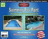 AdCoat Swimming Pool Paint, 2-Part Epoxy Acrylic Waterbased Coating, 1 Gallon Kit - White Color