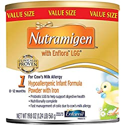 Enfamil Nutramigen with Enflora LGG Infant Formula, Powder, 19.8 Ounce Can