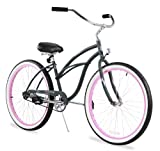 Firmstrong Urban Lady Seven Speed Beach Cruiser Bicycle, 26-Inch, Red