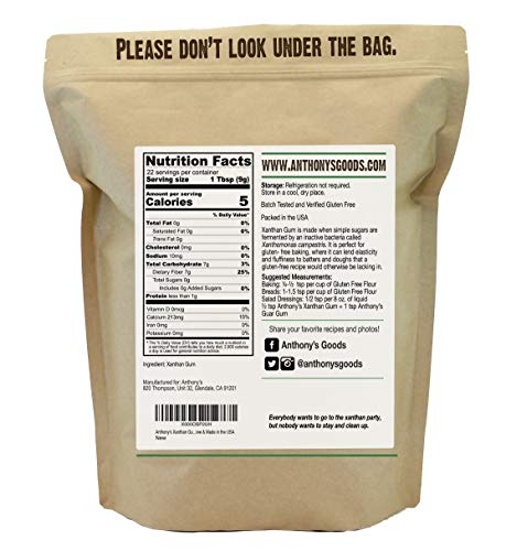 Anthony's Xanthan Gum, 1 lb, Batch Tested Gluten Free, Keto Friendly, Product of USA 3