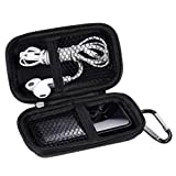 MP3 Player Case KINGTOP Durable Hard Shell Travel Carrying Case for MP3 MP4 Players,iPod Nano,iPod Shuffle,USB Cable,Earphones,Memory Cards,U Disk,Keys (Black)