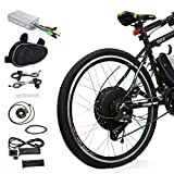 Voilamart E-Bike Conversion Kit 26' Rear Wheel 36V 500W Electric Bicycle Conversion Motor Kit with Intelligent Controller and PAS System for Road Bike