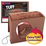 Smead TUFF Expanding File,  12 Pockets, Monthly (Jan.-Dec.), Flap and Cord Closure, Letter Size, Redrope (70388)