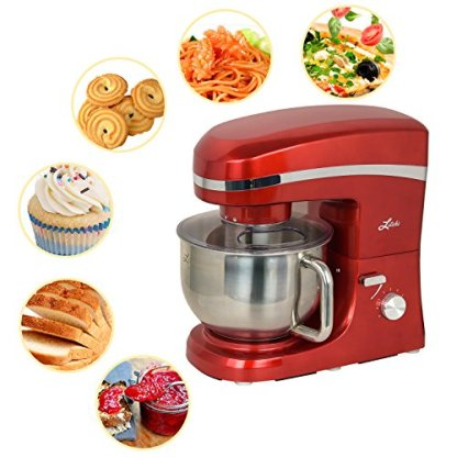 Litchi-Stand-Mixer-650W-6-Speed-Tilt-Head-Mixer-with-55-Quart-Stainless-Steel-Bowl-Beaters-Whisk-Dough-Hook-Pouring-Shield-Red