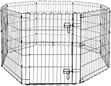 AmazonBasics Foldable Metal Pet Exercise and Playpen with Door, 30'