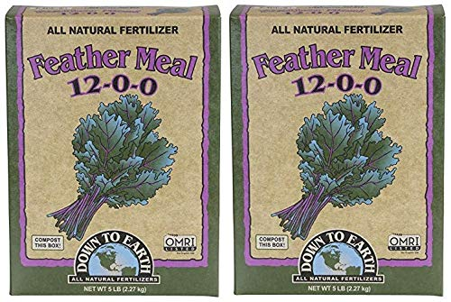 Down to Earth Organic Feather Meal Fertilizer Mix 12-0-0, 5 lb (Тwo Рack)