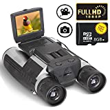 Ansee Digital Binoculars Camera Telescope Camera 2' LCD Display 12x32 5MP Video Photo Recorder with Free 8GB Micro SD Card for Watching Bird Football Game Concert
