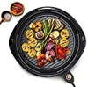 """Maxi-Matic EMG-980B Indoor Electric Nonstick Grill Adjustable Thermostat, Dishwasher Safe, Faster Heat Up, Low-Fat Meals, Easy To Clean Design, Includes Glass Lid, 14"""" Round"""