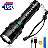 [2019 NEWEST]Brionac Rechargeable LED Flashlight, Waterproof Flashlight High Lumen Super Bright Pocket-Sized, 5 Modes, for Camping, Biking, Walking, Outdoor or Gift-Giving (Battery Included)