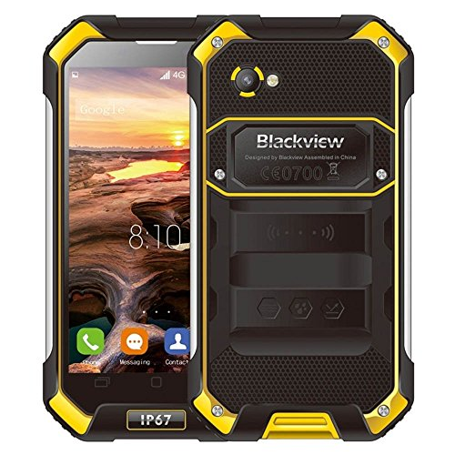 Blackview BV6000, RAM 3GB+ROM 32GB 4G IP67 Waterproof Smart Phone 4.7 inch Corning Gorilla Glass 3 Screen Android 6.0 MT6755 Octa-core 2.0GHz, Dual SIM (Yellow)