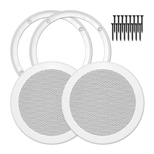 Reliable Hardware Company RH-4002-6.5-2-A White Universal Surface Mount 6-1/2' Speaker Covers, Pair