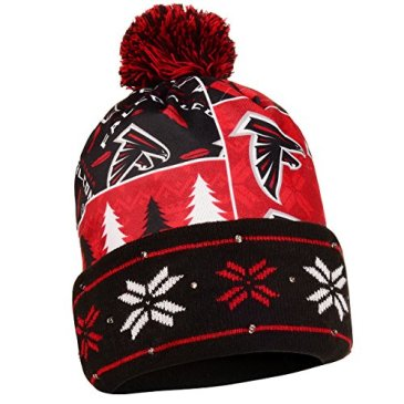 NFL Atlanta Falcons Busy Block Printed Light Up Beanie, One