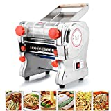 TOPCHANCES 750W 110V Stainless Steel Commercial Electric Noodle Making Pasta Maker Dough Roller Noodle Cutting Machine