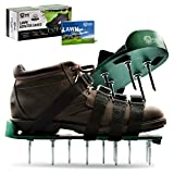 Pride Roots Pre-Assembled Lawn Aerator Shoes - Effective Tool for Aerating Yard Soil | Premier 2.2' Spike Sandals w/ 4 Metal Buckle Straps | Includes Lawn Aeration eBook | 1 Size Fits All