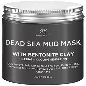 Radha Beauty Dead Sea Mud Mask with Bentonite Clay for Face & Body 8.8 oz - 100% Natural Formula to Treat Acne, Pores… 4