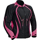 Juicy Trendz Motorcycle Motorbike Biker Cordura Waterproof Textile Jacket Pink