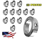 5/8' Bore Stainless Steel Shaft Collars Set Screw Style (20 Pieces)
