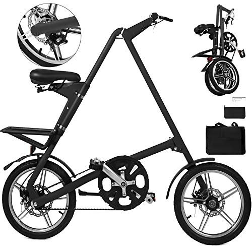 Happybuy Folding Bike 16 Inch Folding Bicycle A-Bike Folding Bikes for Adults Lightweight Foldable Bike