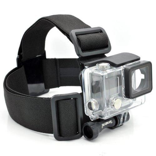 Smatree Head Strap/Belt Harness Mount + Aluminum Thumbscrew Mount for Gopro HD Hero4, Hero3+ Hero3 Hero2 Cameras, Adjustable(Black)