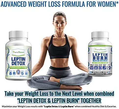 Leptin Detox + Leptin Burn Combo - Vegan - Leptin Supplements for Weight Loss for Women - Leptin Resistance Supplements - All Natural Safe and Effective - Non-GMO - 1 Month 2