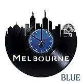 MELBOURNE, Australia Vinyl Record Wall Clock - Get unique bedroom wall art décor - Gift ideas for siblings, friends - Unique city art design - Leave us a feedback and win your custom clock