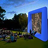 Evokem Airblown Outdoor Inflatable Movie Screen for a Backyard Theater (Blue-2)