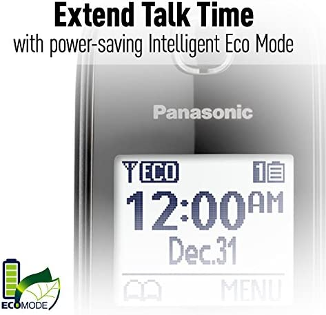 Panasonic Expandable Cordless Phone System with Call Block and High Contrast Displays and Keypads - 1 Cordless Handset - KX-TGD510B (Black) 17