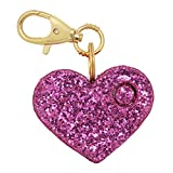 Personal Safety Alarm for Women - Ahh!-larm! Self-Defense Personal Panic 115 Decibel Alarm Keychain for Women with LED Safety Light and Clip, Pink Glitter Heart