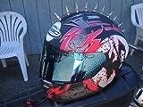 Motorcycle Helmets Streetbike Peel and Stick Metal Mohawks Helmet Spikes Mohawk Spike 1