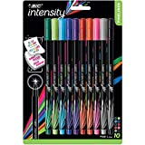 BIC Intensity Fineliner Marker Pen, Fine Point (0.4 mm), Assorted Colors, 10-Count