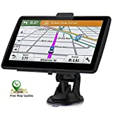 Car GPS Navigation, 7-inch HD GPS Navigation 256-8GB Voice Broadcast Navigation, top-Loading North America map (USA, Canada, Mexico map) Lifetime map Free Update