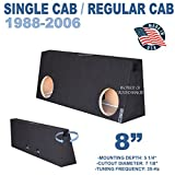 Fits Regular-Cab/Single cab Trucks 8' Dual Ported Sub Box