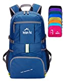 Venture Pal Lightweight Packable Durable Travel Hiking Backpack Daypack-Navy Blue