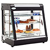 27' Commercial Food Warmer Display Hot Food Countertop Case Restaurant Heated Cabinet Food Showcase for Self Service Pizza Empanda Pastry Patty Warmer 25-1/2' X 27' X 19'