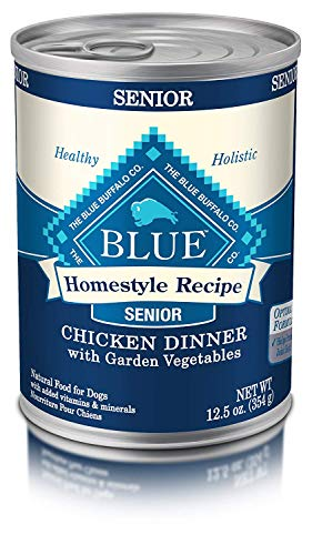 Blue Buffalo Homestyle Recipe Natural Senior Wet Dog Food, Chicken 12.5-Oz Can (Pack of 12) 1