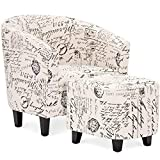 Product review for Best Choice Products Home Furniture Club Arm Chair W/ Ottoman Set- White