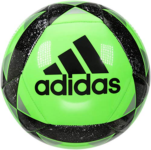 adidas Starlancer V Soccer Ball, Dark Green, Size 5