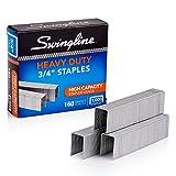 Swingline Staples, Heavy Duty, 3/4' Length,  160 Sheet Capacity, 100/Strip, 1000/Box, 1 Pack (35319)